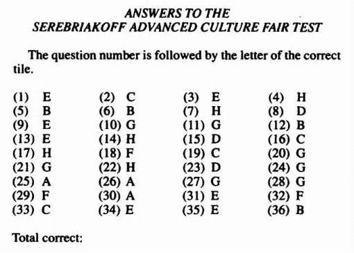 SACFT Answers & Scoring